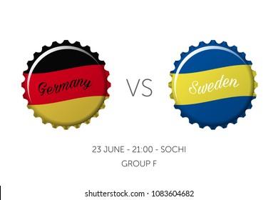 Soccer championship - Germany VS Sweden - 23 June