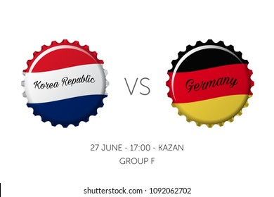 Soccer championship - Korea Republic VS Germany, 27 June