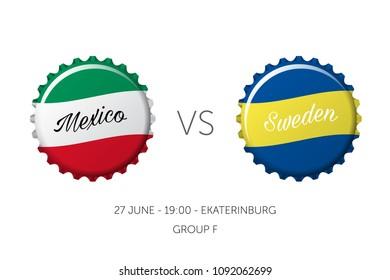 Soccer championship - Mexico VS Sweden - 27 June