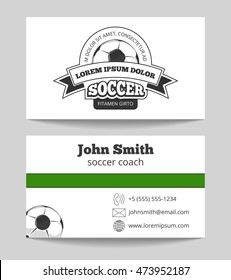 Basketball business card poster images stock photos vectors soccer club business card template in green and white football coach card vector illustration colourmoves