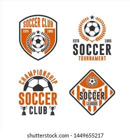 Soccer Club Championship Logo Set
