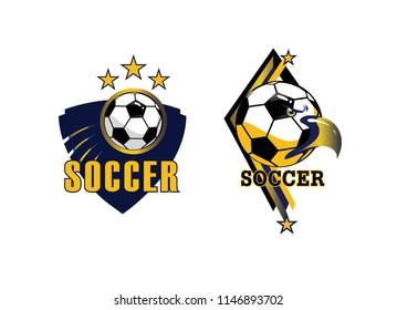 Soccer club,LOGO TEAM,foot ball vector, league, design, symbol, label, banner, set, sign, sports, school