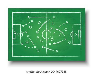Soccer cup formation and tactic . Greenboard with football game strategy. Vector for international world championship tournament 2018 concept .
