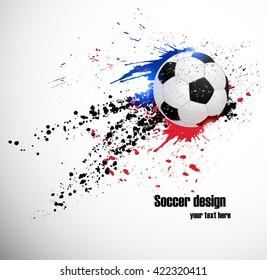 Soccer deign. Design for France soccer championship