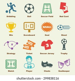 soccer elements, vector infographic icons