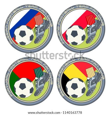 Soccer Fan Logo 2 Vector Illustration Stock Vector Royalty Free
