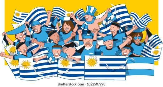 Soccer fans cheering