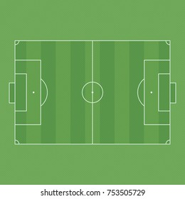Soccer Field background. Top view of football field. The standard layout of the playing area. Vector illustration EPS 10.