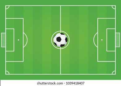 Soccer field. Football field vector