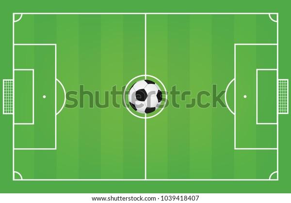 Soccer field. Football field vector