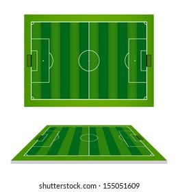 Soccer field or football field - Vector illustration