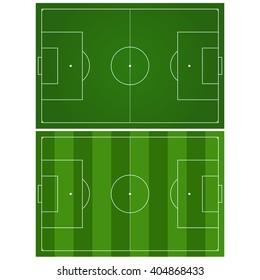 Soccer field. Green football stadium Top view. Vector illustration.