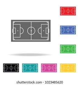 Soccer field icon. Element of sport multi colored icon for mobile concept and web apps. Icon for website design and development, app development. Premium icon on white background