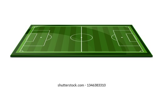 Soccer field. Perspective elements. Vector illustration