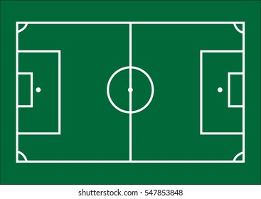 Soccer field template
