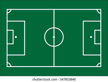 Soccer field template