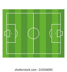 Soccer Field. Top View Football Green Stadium. Vector illustration