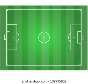 Soccer field. Vector