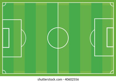soccer field as vector