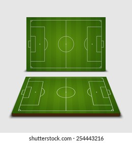 Soccer field - Vector illustration