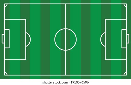 soccer field view vector illustration. in green and white color
