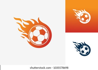Soccer Fire Logo Template Design Vector, Emblem, Design Concept, Creative Symbol, Icon