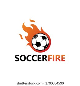 Soccer Fire Logo Template Design