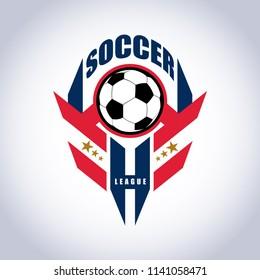 Soccer Football Badge Logo Design Templates   Sport Team Identity Vector Illustrations isolated on white Background