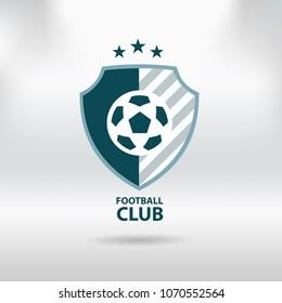 Soccer Football Badge logo, vector illustration
