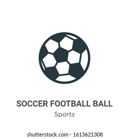 Soccer football ball glyph icon vector on white background. Flat vector soccer football ball icon symbol sign from modern sports collection for mobile concept and web apps design.
