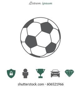 Soccer (football) ball icon. vector illustration