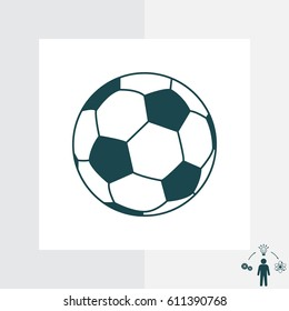 Soccer (football) ball icon. vector illustration