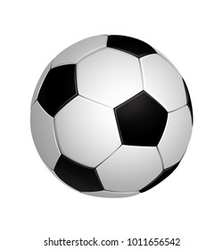 Soccer football ball isolated on the white background. Vector illustration.