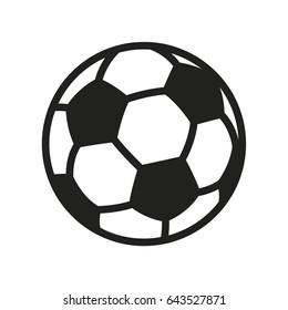 Soccer Football Ball Minimal Flat Line Outline Stroke Icon Pictogram Symbol
