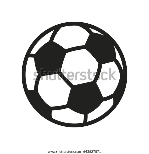 Soccer Football Ball Minimal Flat Line Outline Stroke Icon Pictogram Symbol