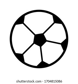 Soccer Football Ball Vector Isolated on White Background