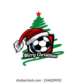 Soccer, Football Christmas Tree Logo v0l. 01