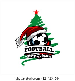 Soccer, Football Christmas Tree Logo v0l. 02