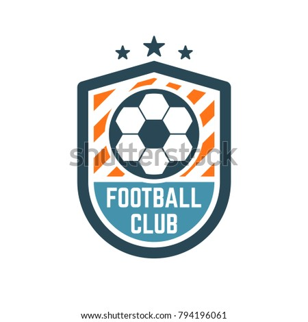 Soccer football club logo badge football stock vector royalty free soccer or football club logo or badge football logo templates maxwellsz