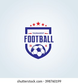 Soccer and Football Club logo template.