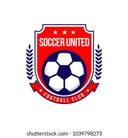 Soccer Football Club Logo Vector Template