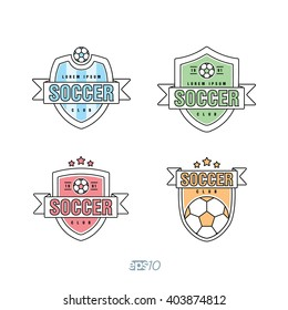 Soccer, Football Club Vector Logo Template Set