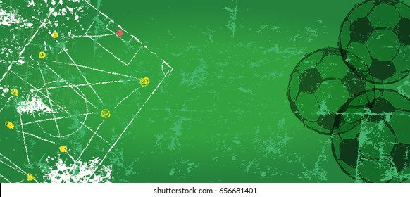 Soccer / Football design background template,free copy space, vector