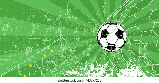 Soccer / Football design template or background, free copy space, vector