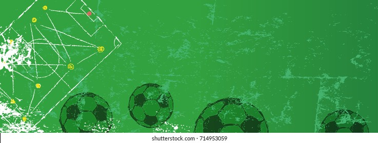Soccer / Football design template,free copy space, vector