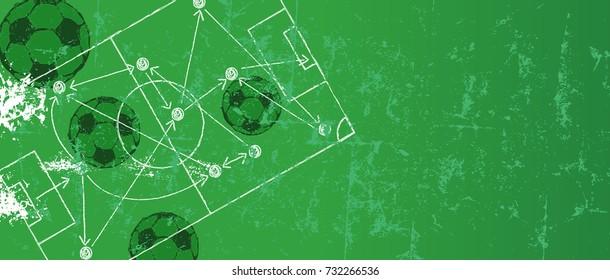 Soccer / Football design template,free copy space, vector