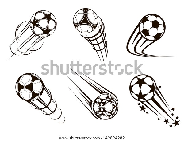 Soccer and football emblems for sport and championship design. Jpeg version also available in gallery