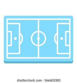 Soccer Football Field Arena Court Lawn Sport Minimal Colorful Flat Line Stroke Icon Pictogram Symbol Illustration