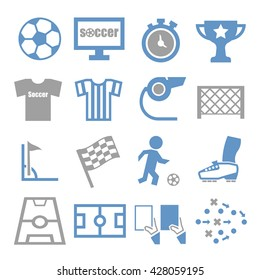 soccer, football icon set