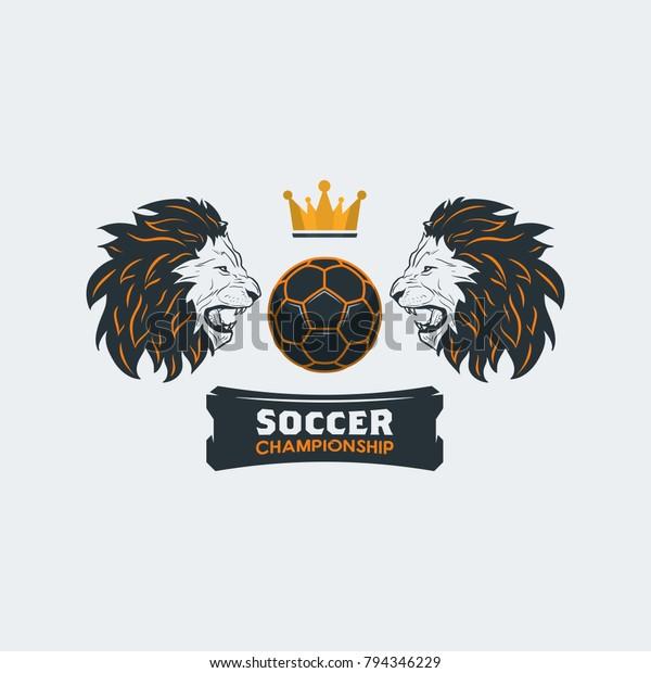Soccer Football Logo Template Modern Sport Stock Vector